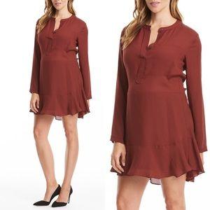 NWT Maternity-Friendly A.L.C. Burgundy Silk Dress